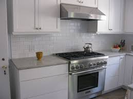 Kitchen With Subway Tile Backsplash Kitchen Glass White Tile Backsplash Kitchen Home Design Ideas
