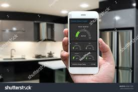 internet things iot smart home kitchen stock photo 605813396