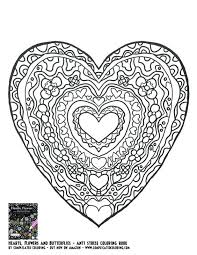 coloring pages flowers hearts coloring pages flowers hearts