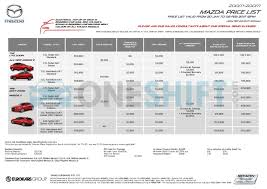 mazda 1 price mazda singapore printed car price list oneshift com