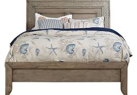Driftwood Bedroom Furniture by Sandy Lane Driftwood 3 Pc Queen Panel Bed Beds Light Wood