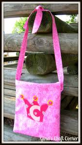 gina u0027s craft corner appliqued crossover bag for kids