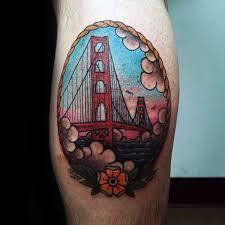 60 golden gate bridge tattoos for men san francisco ink ideas