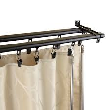 contemporary traverse curtain rod black with new regal black