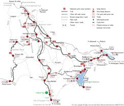 Scenic Route Map by Campsites Near Cycle Trails Tissington Trail Caravan Site