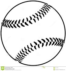 baseball outline stock photo image 25972160