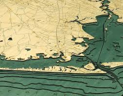 map of galveston custom wood charts of houston and galveston from carved lake