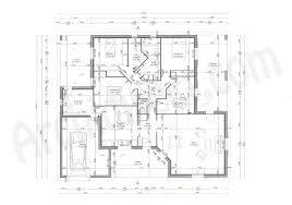 plan maison simple 3 chambres plan maison avec cotation construction individuelle contemporaine