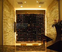 Wine Cellar Wall - temperature controlled glass wine cellars