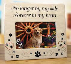pet memorial ceramic picture frame no longer by my