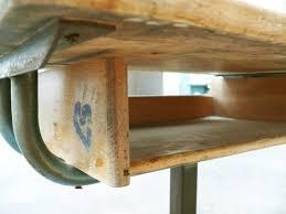 bureau ecolier bois pupitre bureau écolier réglable bois métal matco style jean prouvé