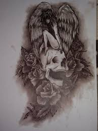photo collection death angel tattoo designs