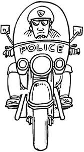 Police Officer Tools Coloring Pages Motorcycle Policeman Page Free Tools Coloring Page