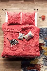 Poppy Bedding Bedroom Turquoise King Comforter Set Coral Bedspread Coral