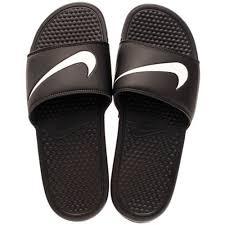 imagenes zandalias nike nike benassi swoosh slide negro blanco hombre en venta