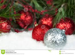 red sparkly christmas ornaments royalty free stock photo image