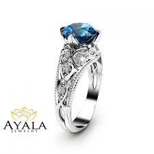 blue topaz engagement rings london blue topaz engagement ring 14k white gold alternative ring