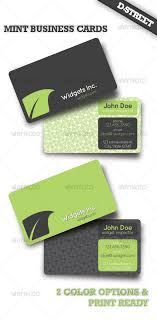 mint business card by dstreet graphicriver