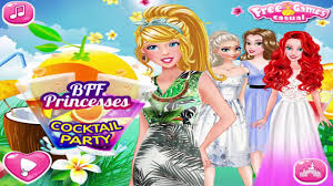 disney princess games bff princesses cocktail party youtube