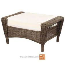 Patio Chair With Hidden Ottoman Outdoor Ottomans Outdoor Lounge Furniture The Home Depot