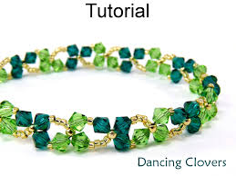 beaded bracelet patterns images Beading tutorial pattern bracelet necklace st patrick 39 s day JPG