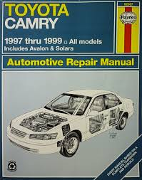 toyota camry automotive repair manual models covered all toyota