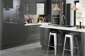 meuble de cuisine gris anthracite cuisine grise cuisine hygena cbel cuisines