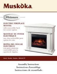muskoka 42 inch electric fireplace manual heat
