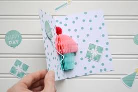 how to make handmade pop up birthday cards honeycomb cupcake pop up card tutorial we r memory