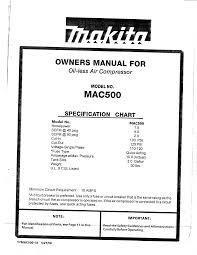 makita air compressor mac500 user guide manualsonline com