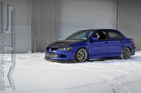 Stm Ricer Looking Pretty In The Snow Evolutionm Mitsubishi