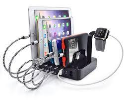phone charger organizer 6 port usb charging station dock hub charger organizer black