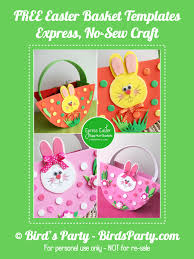 no sew express baskets for your easter egg hunt with free