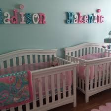 Decor Nursery Nursery Wall Decor Wood Letters 6 Letter Set Room
