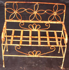 Butterfly Bench Wrought Iron Child U0027s Butterfly Bench