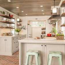 kitchen backsplash ideas with white cabinets houzz 75 beautiful brick floor kitchen with subway tile backsplash