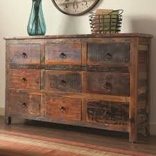 Coaster Curio Cabinet Coaster Accent Cabinets 9 Drawer Rustic Cabinet Prime Brothers