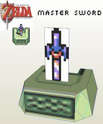 Master Sword Papercraft - snes master sword in pedestal nintendo papercraft