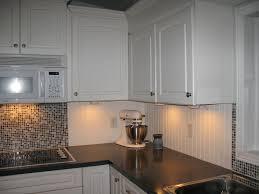 the home interior kitchen backsplashes white beadboard and tile backsplash for the
