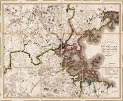 Maps Boston Landmark Map Of The Greater Boston Area Rare U0026 Antique Maps