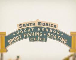Home Decor Santa Monica Santa Monica Pier Canvas Art California Los Angeles Beach