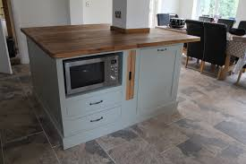 Microwave In Island In Kitchen A Kitchen Island Built Around A Pillar With A Microwave On The
