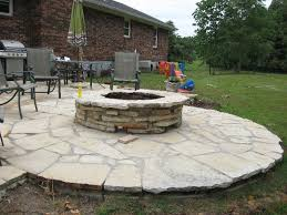 Natural Stone Patio Ideas Stone Hearth Firepit And Fireplace Ideas Gottschalk Quarry