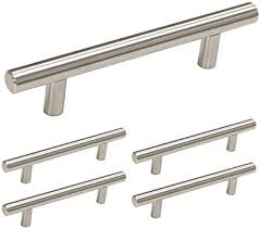 how to clean copper cabinet hardware homdiy brushed nickel cabinet pulls 5 pack 3 5in center t bar cabinet handles hd201sn modern cabinet hardware pulls brushed nickel kitchen