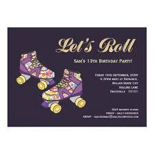 personalized roller skating invitations custominvitations4u com