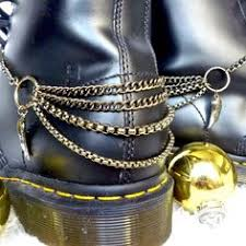 dr martens black friday boot chain bracelet silver tongue for combat boots army boots