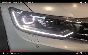 white volkswagen passat 2017 india spec 2017 vw passat headlamp at dealership indian autos blog