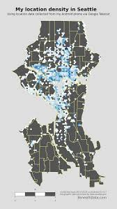 Google Maps Seattle by Visualizing My Location History With Python Shapely And Basemap
