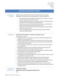 Sample Resume For Esthetician Student by Examples Of Esthetician Resumes Resume For Your Job Application