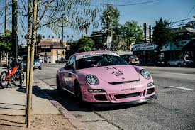 matte pink porsche anti social social club x period correct x porsche gt3 rs